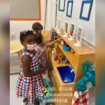 early childhood students in class